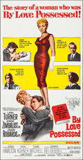 "Movie Posters:Drama, By Love Possessed (United Artists, 1961). Folded, Very Fine. ThreeSheet (41"" X 78.5""). Drama.. ..."
