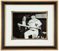 Autographs:Photos, Mickey Mantle & Photographer Frank Mastro Signed, Framed Oversized Photograph.. ...