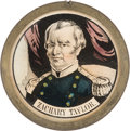 Political:Tokens & Medals, Zachary Taylor: Pewter Rim Mirror. ...