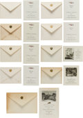 Political:Small Paper (1896-present), Franklin D. Roosevelt: Nine White House Christmas Cards....