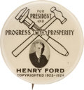 Political:Pinback Buttons (1896-present), Henry Ford: Terrific 1924 Hopeful Picture Pin....