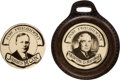 Political:Pinback Buttons (1896-present), Warren G. Harding and James M. Cox: Real Photo Picture Pins....