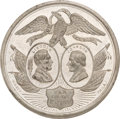 Political:Tokens & Medals, Lincoln & Johnson: DeWitt #1 Jugate Medal by Key....