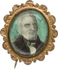 Political:Ribbons & Badges, John Quincy Adams: Lovely and Important Portrait Brooch....