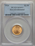 Commemorative Gold, 1926 $2 1/2 Sesquicentennial Quarter Eagle MS64+ PCGS. PCGSPopulation: (4474/2238 and 110/40+). NGC Census: (2624/11...