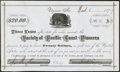Obsoletes By State:Nevada, Virginia, NV - Society of Pacific Coast Pioneers $20 Receipt Mar. 11, 1877. ...