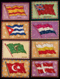 "Non-Sport Cards:General, C. 1912 B6 Type 2 ""National Flags"" Blankets High Grade Collection (16)...."