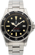 Timepieces:Wristwatch, Rolex Rare Ref. 1665 Double Red Sea-Dweller, Full Set, Boxes, AllPapers, Original Sales Receipt. ...
