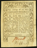 Colonial Notes:Rhode Island, Rhode Island May 1786 2s 6d Very Fine.. ...