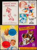 Football Collectibles:Programs, 1942-49 Chicago Bears Program Lot of 4.. ...