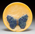 Art Glass:Other , Almeric Walter Pate-de-Verre Glass Papillon