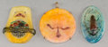 Art Glass:Other , Three Almeric Walter Pate-de-Verre Glass Pendants. Circa 1920. Ht.2 in. (larger two). ... (Total: 3 Items)