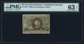 Fractional Currency:Second Issue, Fr. 1283 25¢ Second Issue PMG Choice Uncirculated 63 Net.. ...