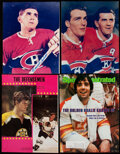 Autographs:Photos, Hockey Greats Signed Magazine Pages/Photographs Lot of 4. ...