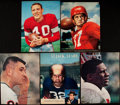 Autographs:Others, Football Greats Signed Magazine Pages Lot of 9....