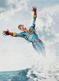Original Comic Art:Covers, Mick Austin Warrior #7 Cover Painting Marvelman/MiraclemanOriginal Art (Quality Communications, 1982)....