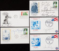 Autographs:Others, Signed First Day Cover Lot of 5.. ...