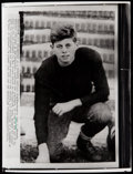 Football Collectibles:Photos, John F. Kennedy Wire Photograph....