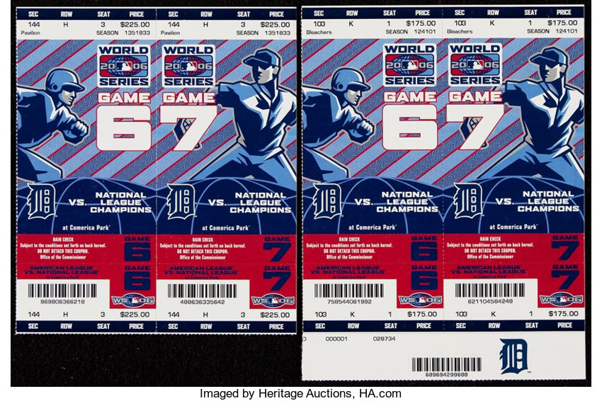 Baseball CollectiblesTickets 2006 World Series Ticket Lot Of 9
