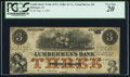 Obsoletes By State:Iowa, Dubuque, IA - Lumbermen's Bank of E.L. Fuller & Co. $3 Sept. 1,1857. ...