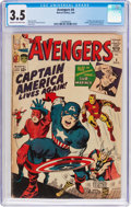 Silver Age (1956-1969):Superhero, The Avengers #4 (Marvel, 1964) CGC VG- 3.5 Cream to off-white pages....