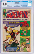 Silver Age (1956-1969):Superhero, Daredevil #1 (Marvel, 1964) CGC GD/VG 3.0 Cream to off-white pages....