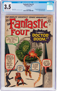 Fantastic Four #5 (Marvel, 1962) CGC VG- 3.5 Cream to off-white pages