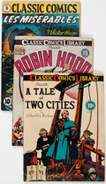 Golden Age (1938-1955):Classics Illustrated, Classic Comics Restored First Editions Group of 6 (Gilberton, 1942-47) Condition: Apparent VG.... (Total: 6 Comic Books)