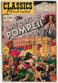 Golden Age (1938-1955):Classics Illustrated, Classics Illustrated #35 The Last Days of Pompeii - First Edition(Gilberton, 1947) Condition: FN/VF....