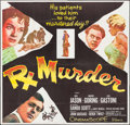 "Movie Posters:Crime, Rx Murder (20th Century Fox, 1958). Six Sheet (79"" X 80""). Crime....."
