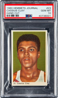 1960 Hemmets Journal Cassius Clay (Muhammad Ali) Rookie #23 PSA Gem Mint 10 - The Finest Example Known to the Hobby!&...