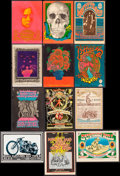 """Movie Posters:Rock and Roll, Rock Concert Postcard Lot (Family Dog/Bill Graham, 1967-1971).Promotional Postcards (12) (4.5"""" X 6.75"""" - 5"""" X 7""""). Rock and...(Total: 12 Items)"""
