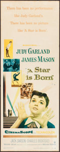 "Movie Posters:Musical, A Star Is Born (Warner Bros., 1954). Folded, Fine. Insert (14"" X 36""). Musical.. ..."