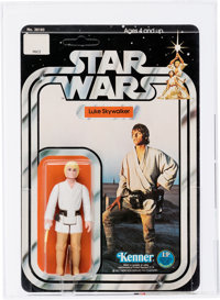 Star Wars - Luke Skywalker 12 Back-C w/Yellow Hair Action Figure (Kenner, 1978) AFA 95 MT