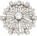 Estate Jewelry:Brooches - Pins, Diamond, Platinum Brooch, Oscar Heyman Bros. . ...