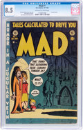 Golden Age (1938-1955):Humor, MAD #1 (EC, 1952) CGC VF+ 8.5 Off-white to white pages....
