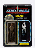 Memorabilia:Science Fiction, Star Wars - Han Solo in Carbonite Chamber/ Special Collectors Coin POTF 92 Back Action Figure (Kenner, 1985) AFA 85 N...