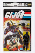 Memorabilia:Miscellaneous, G.I. Joe - Snake Eyes Peach Card Series 4 - 36-Back Action Figure(Hasbro, 1985) AFA 95 MT....