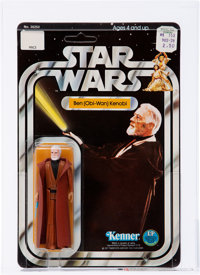 Star Wars - Ben (Obi-Wan) Kenobi (White Hair) 12 Back-B Action Figure (Kenner, 1978) AFA 90 NM+/MT