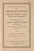 Political:Small Paper (1896-present), [Abraham Lincoln]: Scripps Collection Auction Catalog with Prices Realized....
