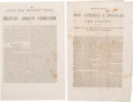 Political:Small Paper (pre-1896), Abraham Lincoln and Stephen A. Douglas: Two Pamphlets.... (Total: 2Items)