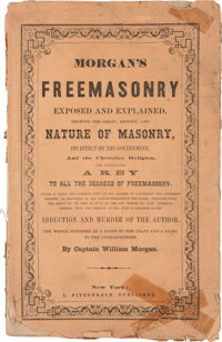 Freemasonry: Rare Book in Titled Wraps