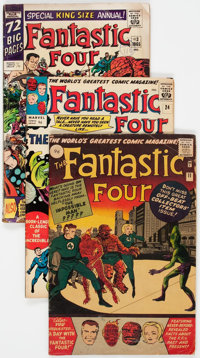 Fantastic Four UK Editions Group of 4 (Marvel, 1963-70) Condition: Average VG.... (Total: 4 Comic Books)