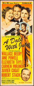 "Movie Posters:Comedy, A Date with Judy (MGM, 1948). Insert (14"" X 36""). Comedy.. ..."