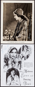 """Movie Posters:Comedy, Carol Dempster in Sally of the Sawdust & Other Lot (Paramount, 1925). Very Fine. Autographed Photos (2) (Approximately 8"""" X ... (Total: 2 Items)"""