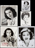 "Movie Posters:Miscellaneous, Mary Wickes & Other Lot (1940s - 1970s). Autographed PortraitPhotos (5) (4"" X 5"", 5"" X 7"", & 8"" X 10""). Miscellaneous.. ...(Total: 5 Items)"