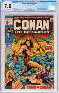 Bronze Age (1970-1979):Adventure, Conan the Barbarian #1 (Marvel, 1970) CGC FN/VF 7.0 Cream to off-white pages....