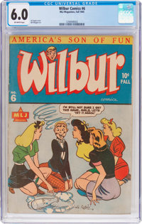 Wilbur Comics #6 (MLJ, 1945) CGC FN 6.0 Off-white pages