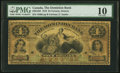 Canadian Currency, Toronto, ON- Dominion Bank $4 Jan. 1, 1876 Ch. # 220-12-02.. ...