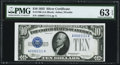 Small Size, Fr. 1700 $10 1933 Silver Certificate. PMG Choice Uncirculated 63 EPQ.. ...